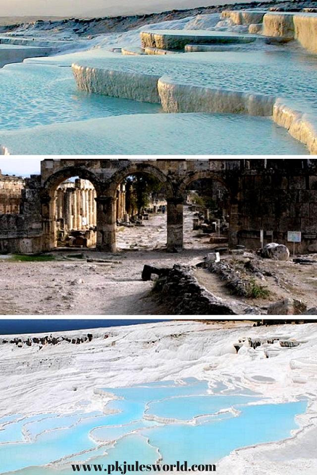 #pamukkale Thermal Pools a Day Trip from Marmaris Turkey! #visitturkey #dreamyturkey