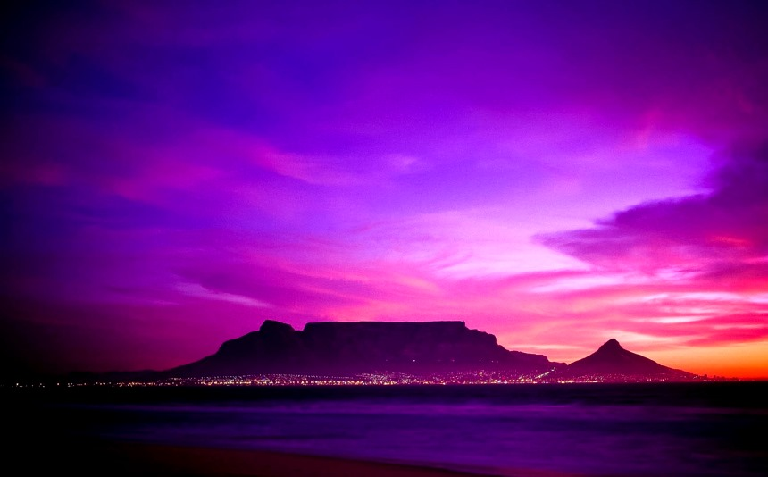 Breathtaking Sunset view of Table Mountain - Best in Travel 2017