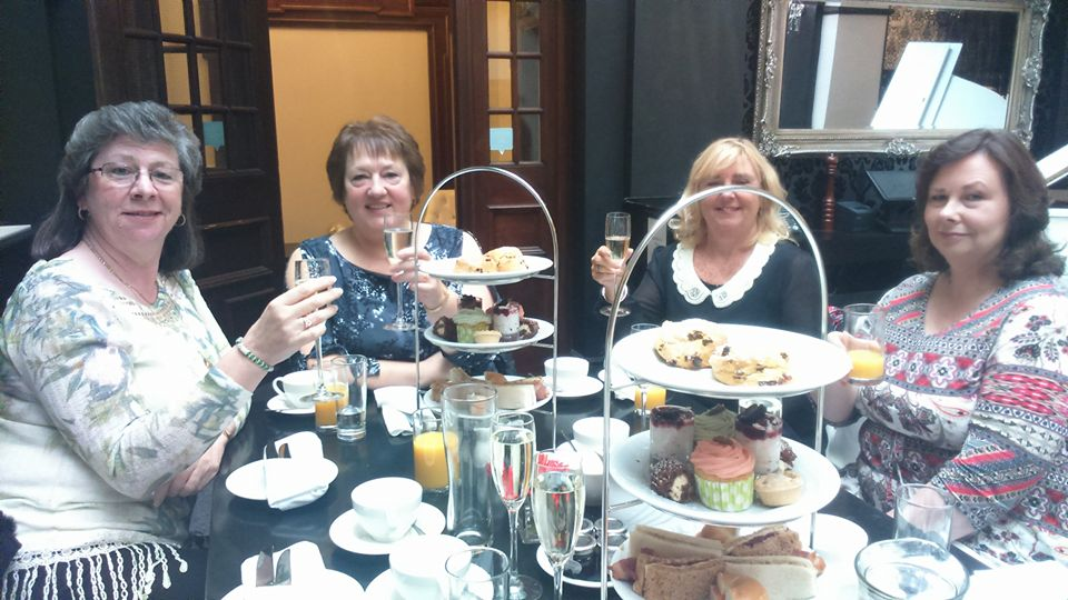 tea at the Richmond Liverpool - Christmas themed cakes
